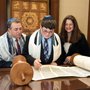 Bar Mitzvah at Temple Isaiah in Lexington